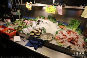 魚介類など海鮮系の屋台