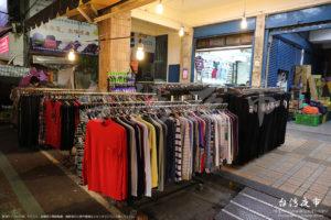 衣類の販売コーナー