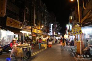 週末の廣州街夜市の雰囲気