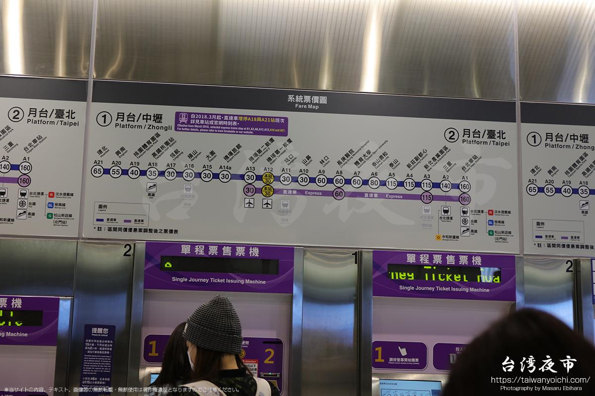 MRTの駅案内