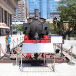 台北駅に展示されている蒸気機関車LDK58