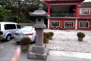 福山宮前にある日本スタイルの石塔