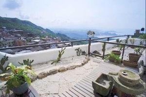 民宿、九重町の部屋からの眺望